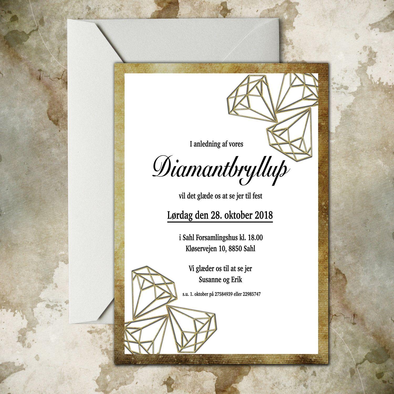 tekst til diamantbryllup kort