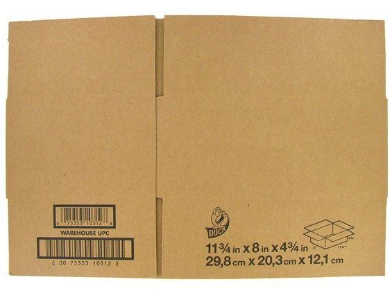 "11 3/4"" x 8"" x 4 3/4"" Corrugated Shipping Box"