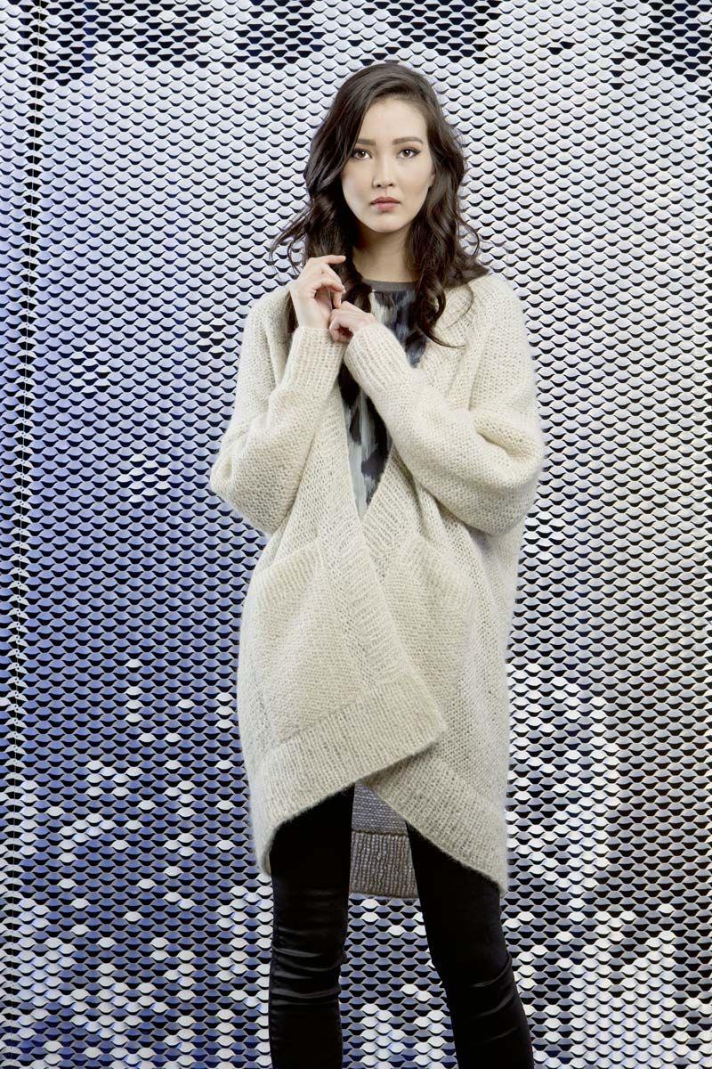 Lang Yarns Jacke Modell-Nr. 224-062-001 Publikation FAM 224 Alpaca superlight en mohair luxe