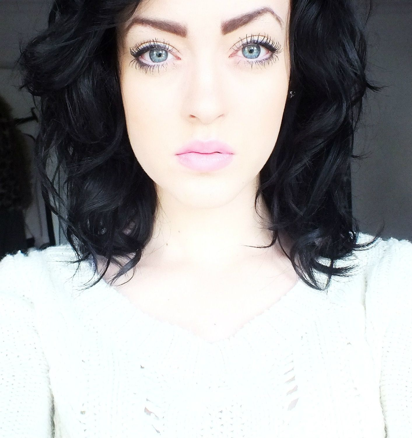 dark hair pale skin - cool pink lips | hair pale skin, dark