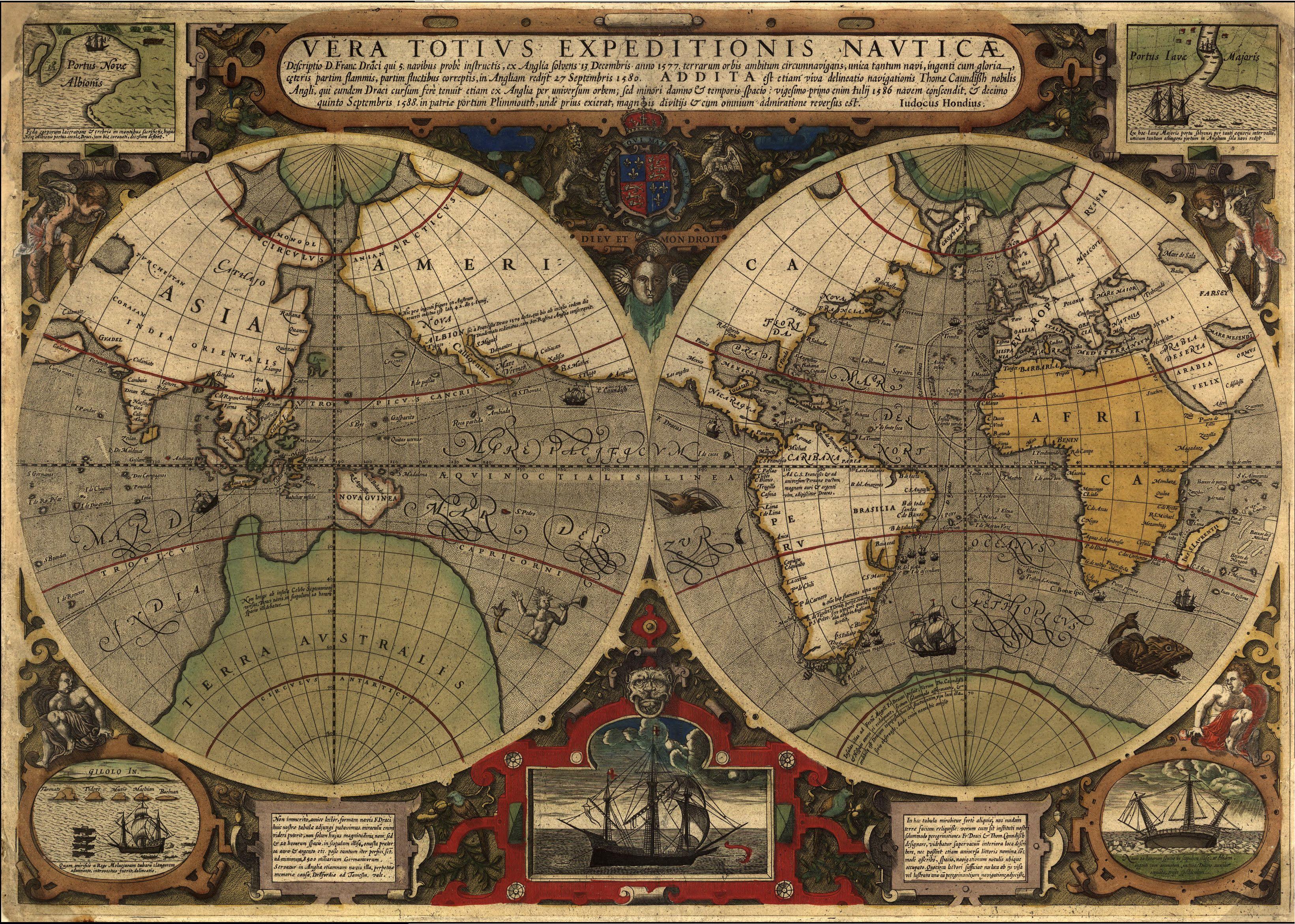 1595 vera totius hondius maps pinterest mapas 1595 vera totius hondius gumiabroncs Images