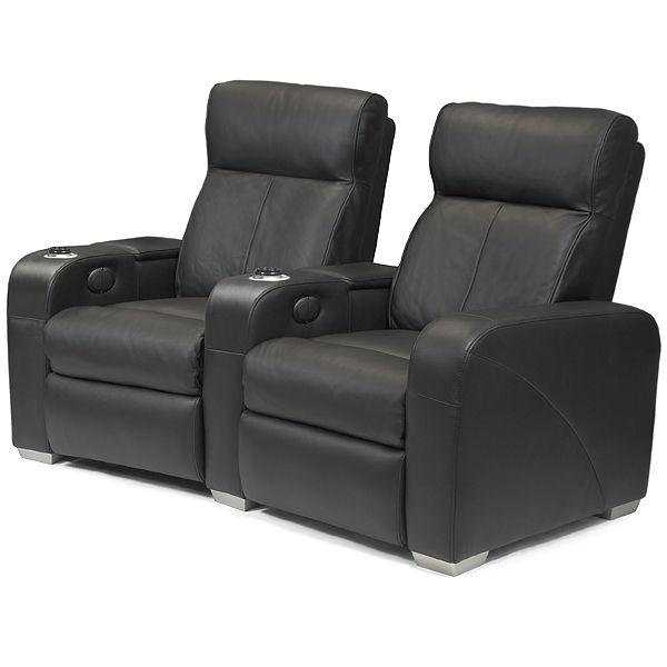 Premiere Home Cinema Seating   2 Seater Black £2399.99
