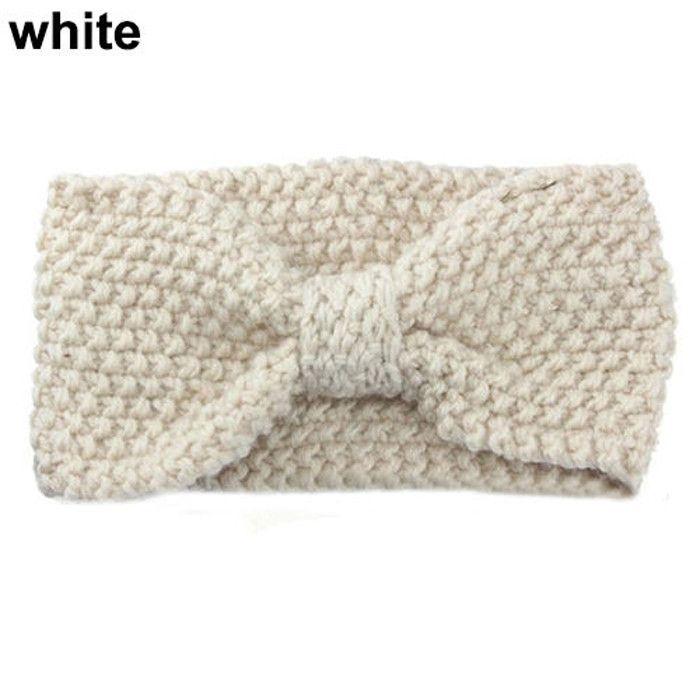Ear Warmer Crochet Bowknot Turban Knitted Head Wrap   Products ...