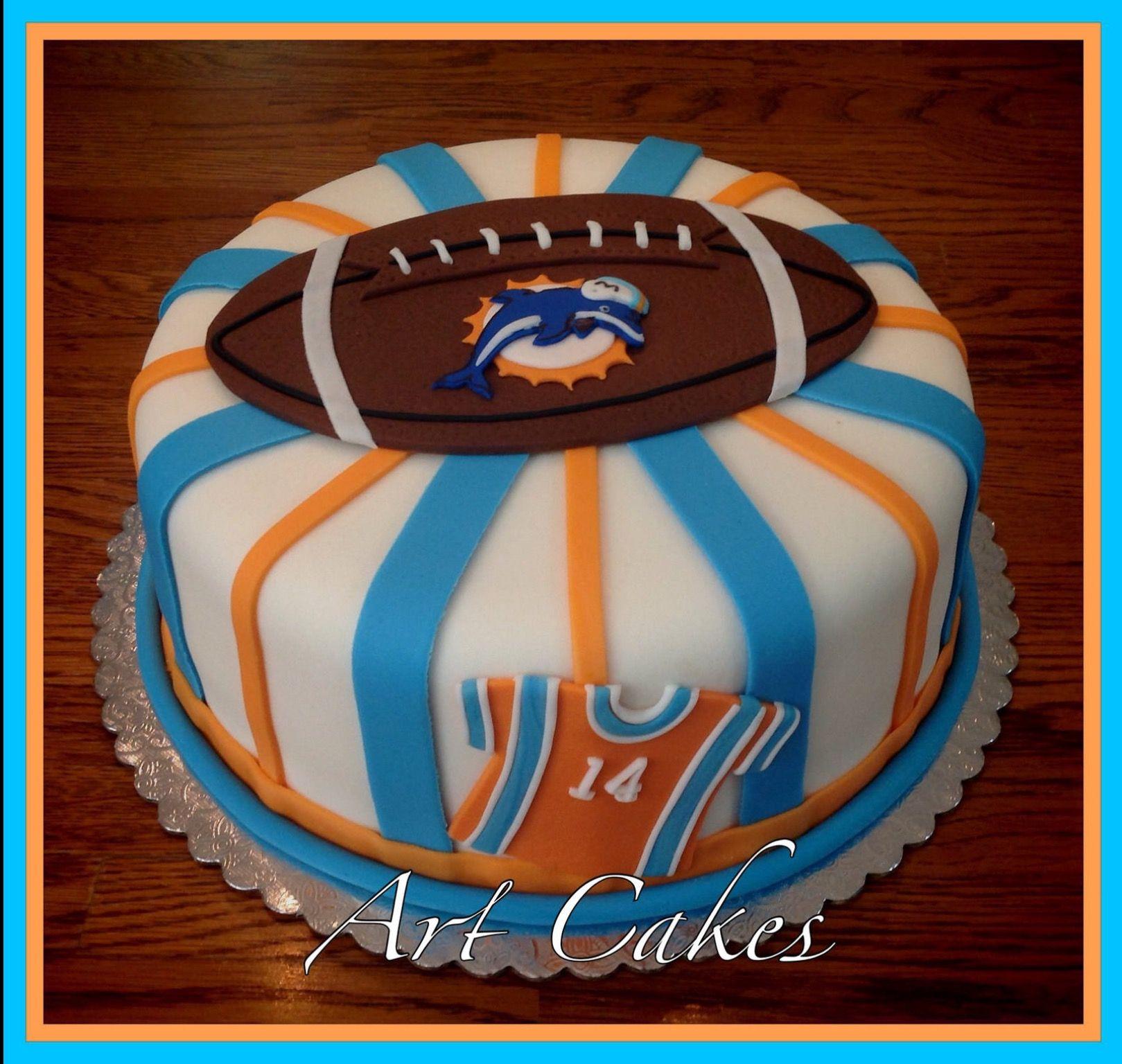 Football birthday cake dolphin cakes cake football