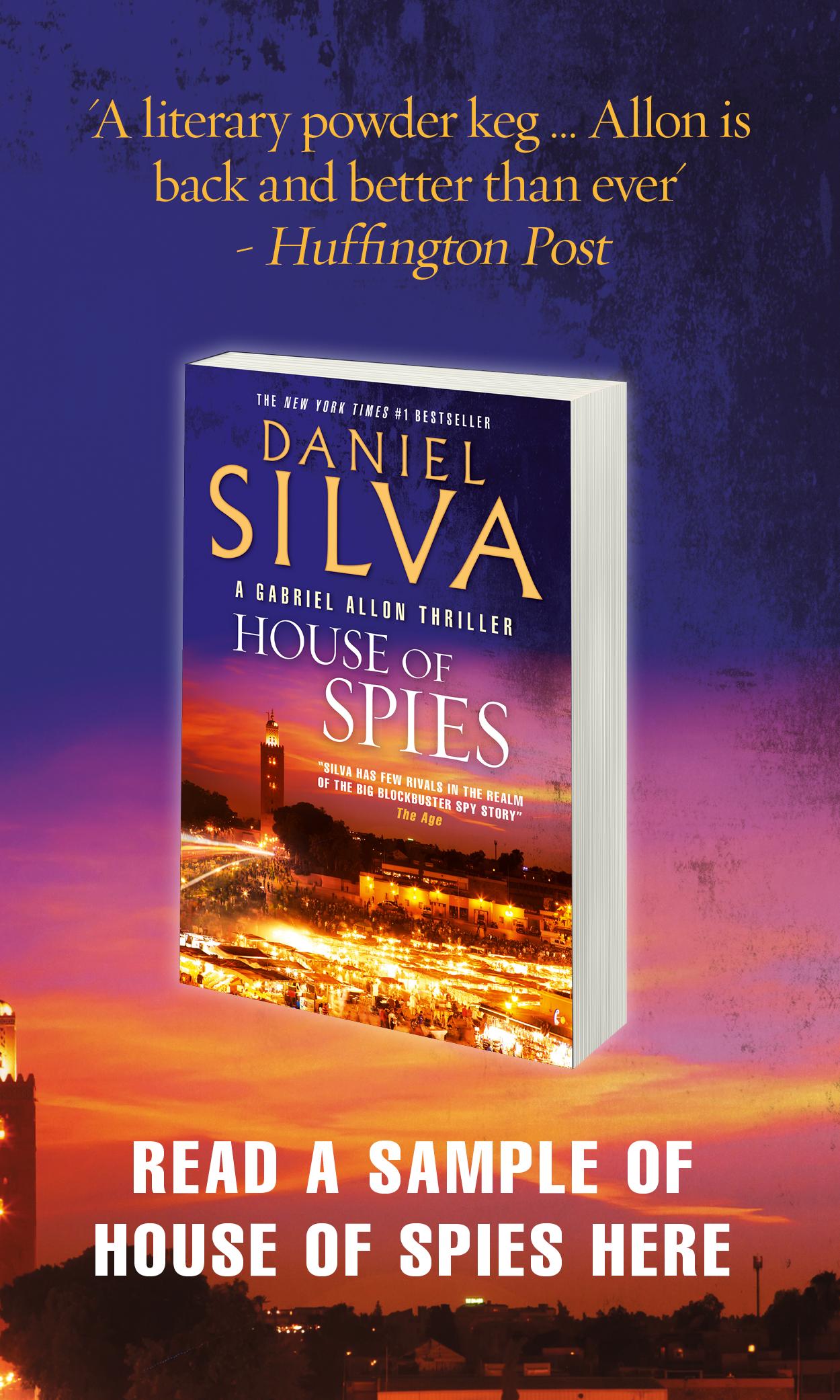 House of Spies Reading, Daniel silva, Best sellers