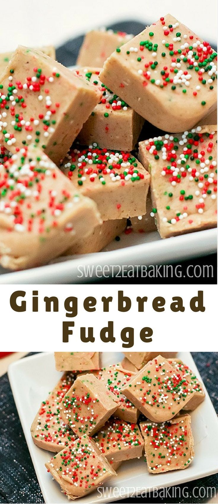 quick and easy gingerbread fudge recipe. Perfectly spiced and festive, this gingerbread fudge is creamy and crunchy thanks to the festive Christmas sprinkles.