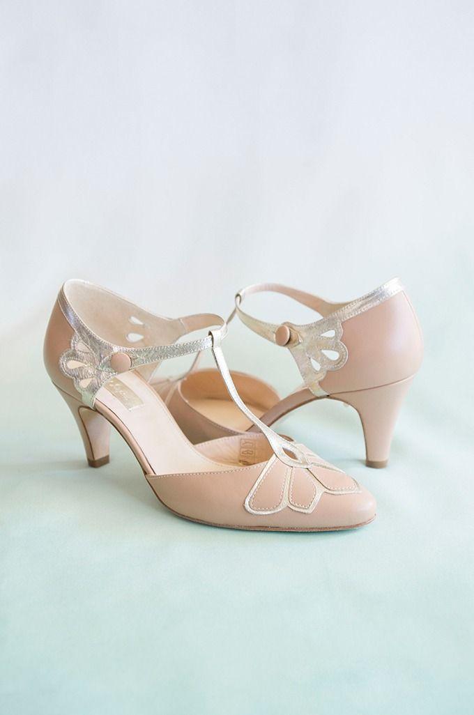 Ombre Art Nouveau Wedding Inspiration Glamour Grace Wedding Shoes Vintage Art Nouveau Weddings Best Bridal Shoes