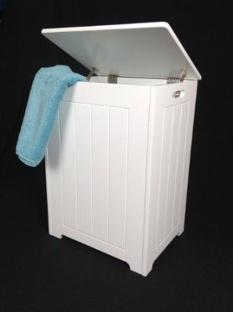 White Wooden Laundry Bin Tongue And Groove Style Co Uk Kitchen Home