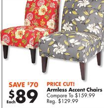Best Armless Accent Chairs From Big Lots 89 00 44 Off 400 x 300