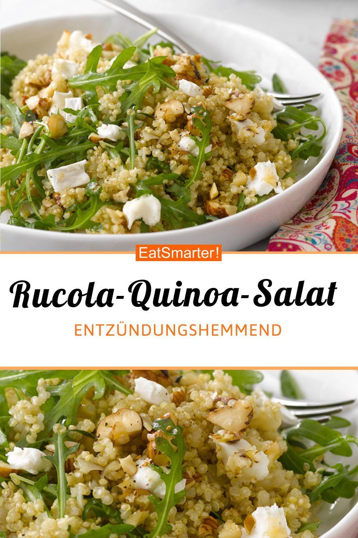 Salat aus Rucola Quinoa und Ziegenkäse Kelly&RepasSanté en 12 ...