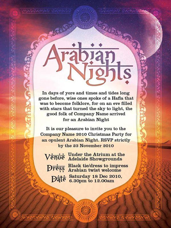 Arabian Nights Invite By Jack Mcgrath Via Behance Arabian