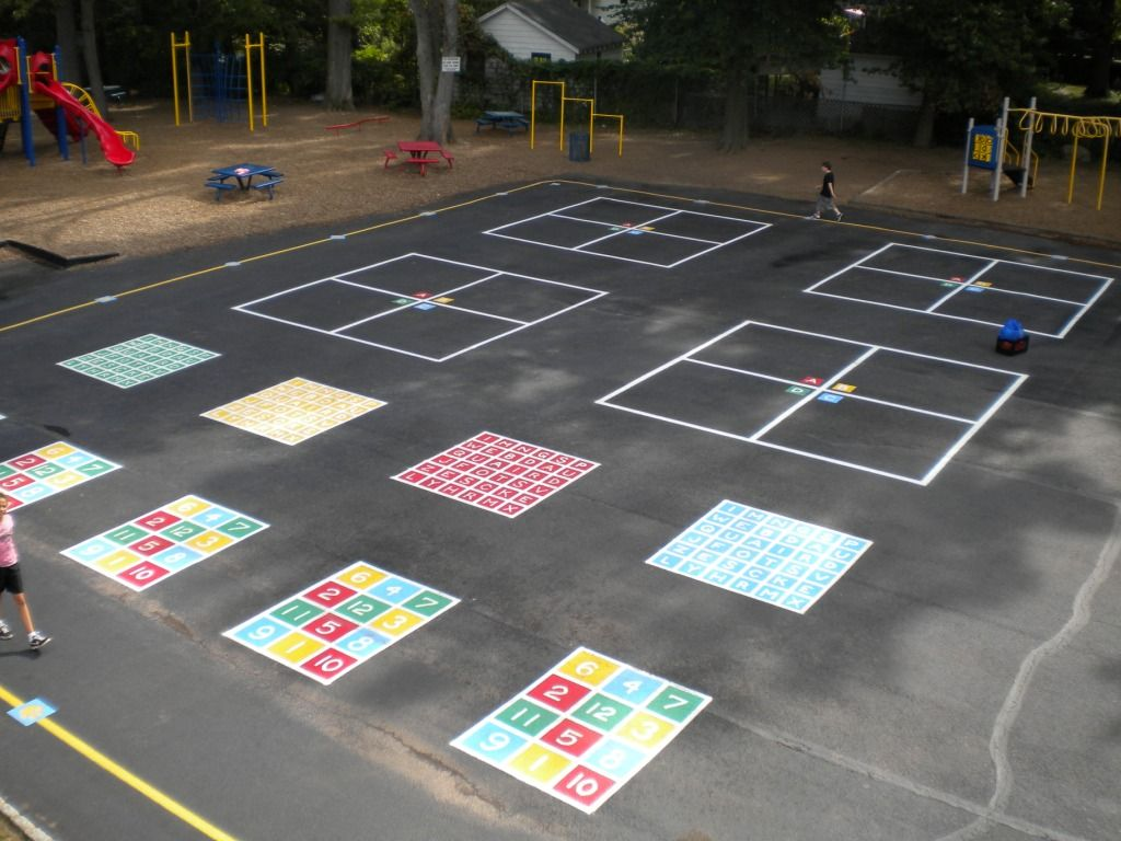 playground painting designs | Example of a painted playground ...