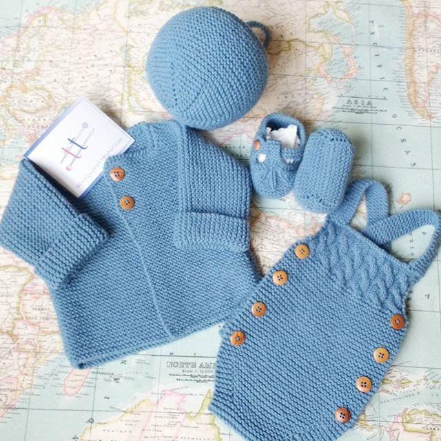 e25cfd8e20e Conjunto completo para bebé de 0/3 meses, algodón.   Knit kids ...