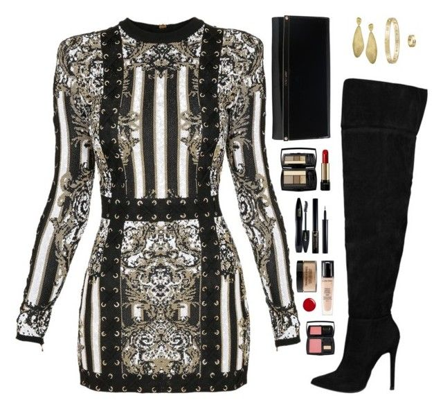 """Sin título #4101"" by mdmsb on Polyvore featuring moda, Balmain, Jimmy Choo, Marco Bicego, Cartier, Lancôme y Gucci"