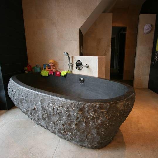 Natuurstenen design baden, waskommen