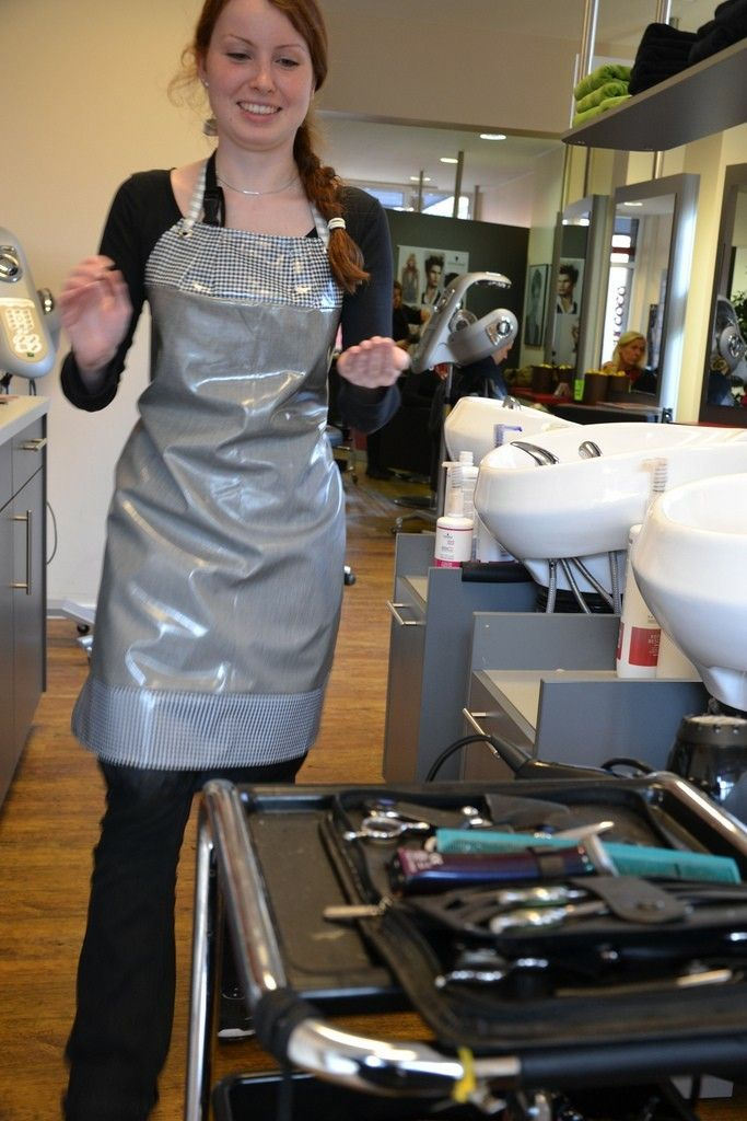 Friseurin Stylist Barber Aprons In 2019 Pvc Apron