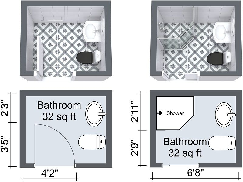 10 Small Bathroom Ideas That Work Small Bathroom Floor Plans