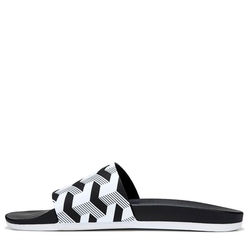 369686926934 Adidas Men s Adilette Comfort Slide Sandals (Black White)