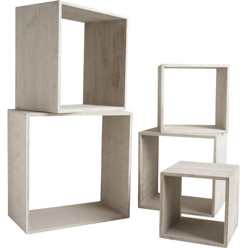 etagere cube bois gris deco divers pinterest. Black Bedroom Furniture Sets. Home Design Ideas
