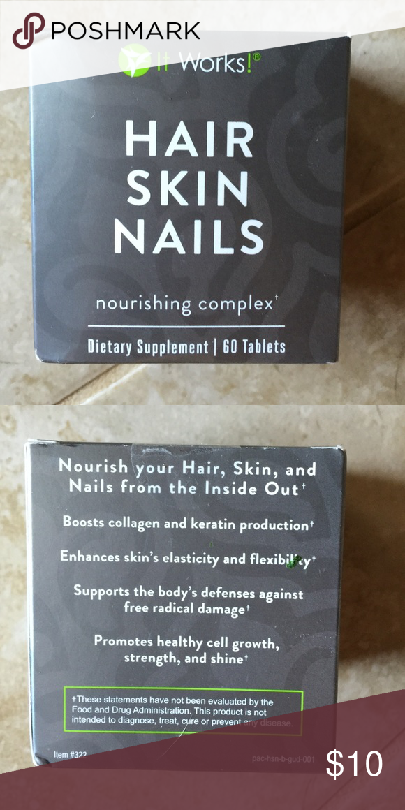 It works Hair Skin Nails Dietary Supplement | Work hair, Customer ...