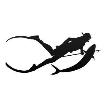 Scuba spearfishing sticker decal scuba diving stickers for Diving and fishing mural