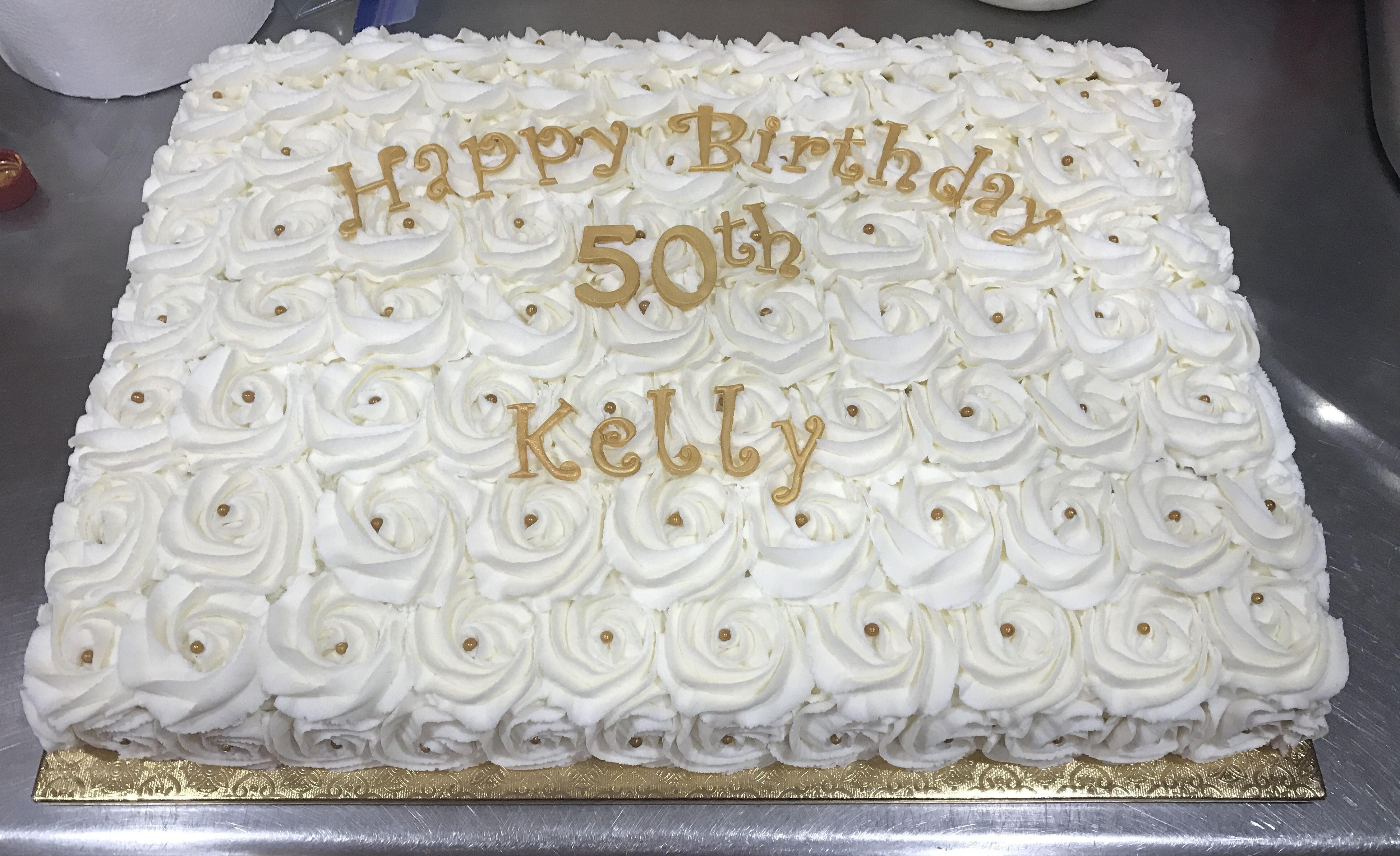 50th birthday rosettes sheet cake Sweet Therapy by Kim Pinterest