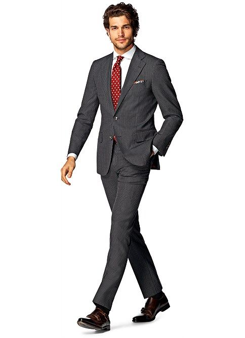 Suit Grey Stripe Lazio P4211i  ded7636d65b