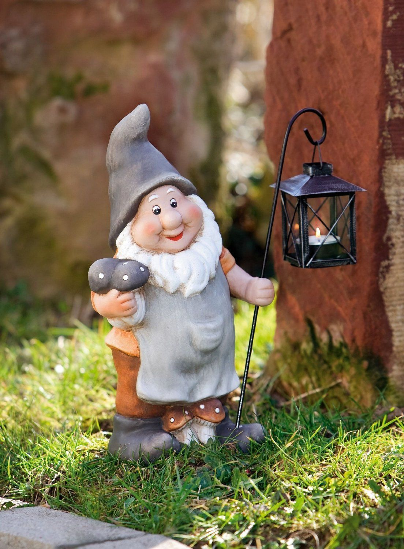 Nain De Jardin Classique Avec Lanterne Amazon Fr Jardin
