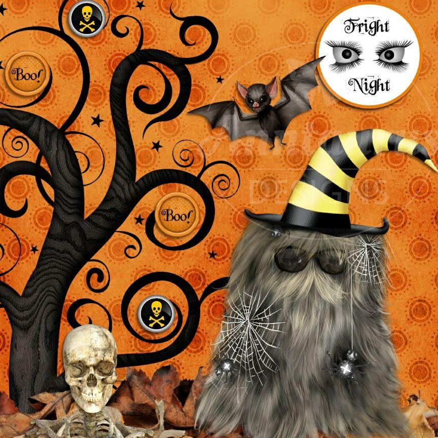 Anntaurus Designs 'Frightfully Fun' Digital Scrapbook Kit