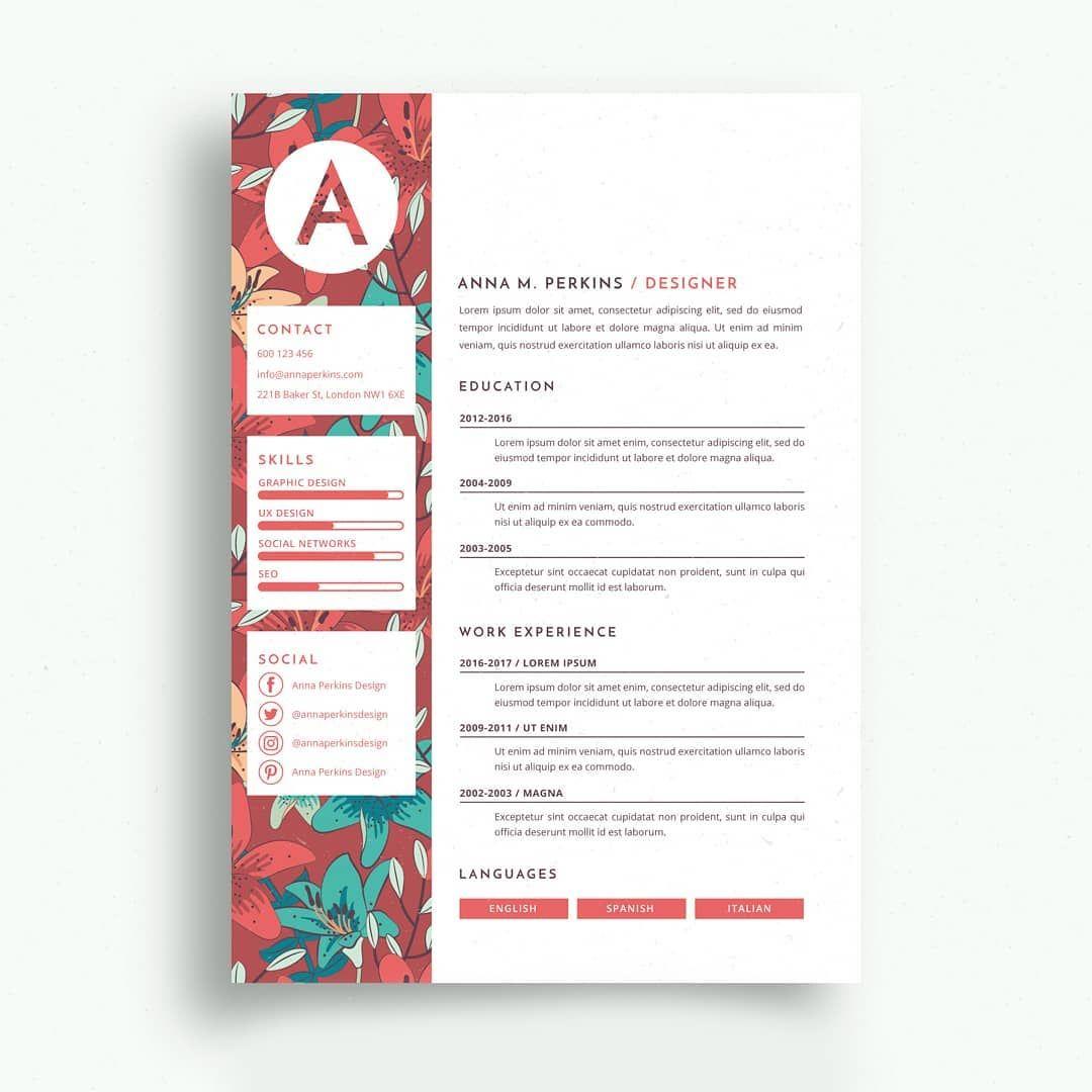 Epingle Sur Creative Resume Template