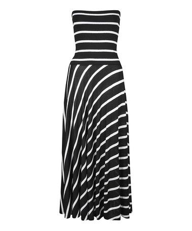 9eee610ae526 Take a look at this Black & White Stripe Convertible Maxi Dress on zulily  today!