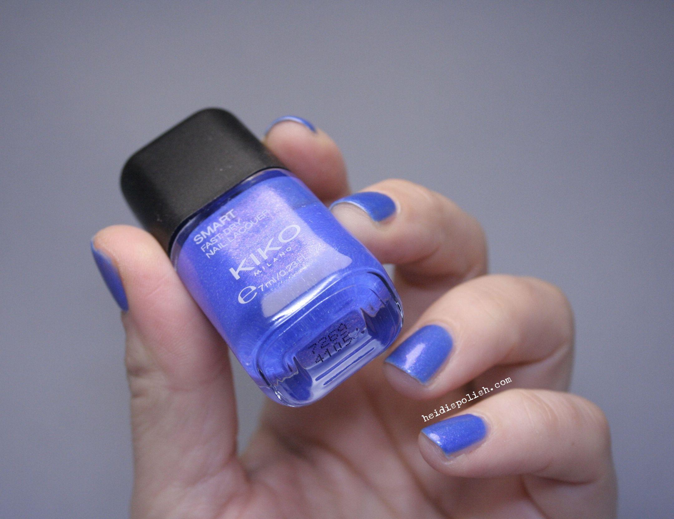 28 Iridescent Violet Blue by Kiko Cosmetics www.heidispolish.com ...