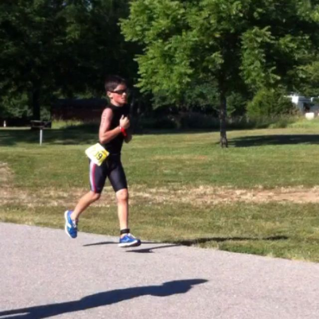 Christian running section of Lawrence iron kids 2012