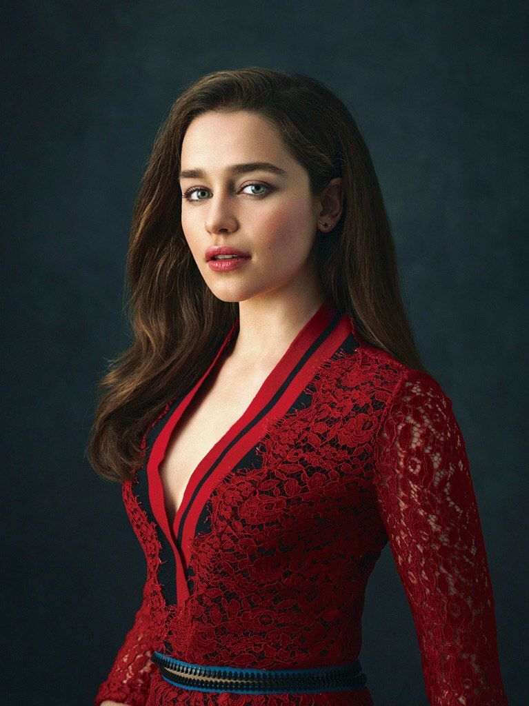 Love the dress. For later books. [Emilia Clarke]