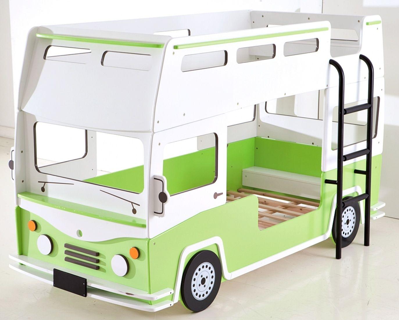 Etagenbett Bully Als Bus In Grun Weiss Kinder Bett Etagenbett