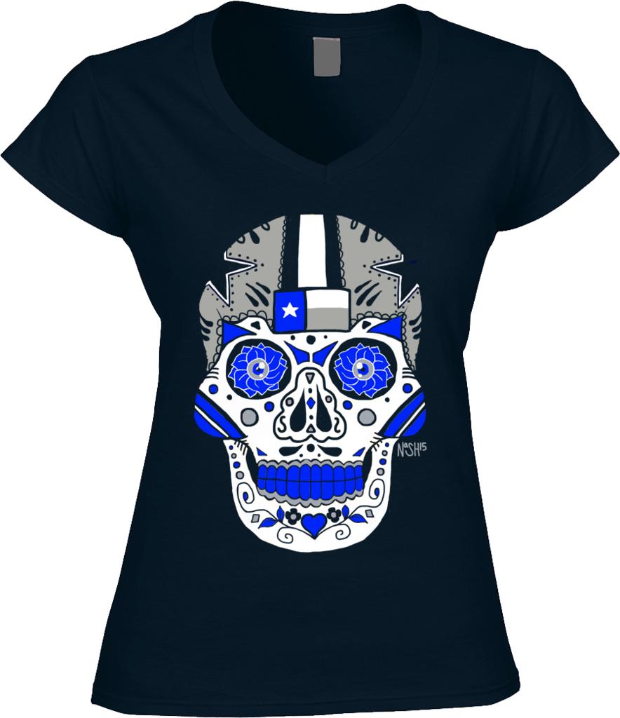 Cowboys Sugar Skull - Art by Jeremy Nash. 100% ring-spun combed cotton bcf98ae45