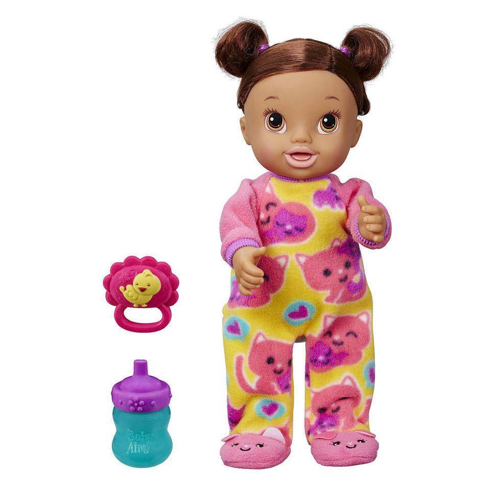 Baby Alive Tickles N Cuddles Doll Brown Hair Hasbro Nib Baby Alive Baby Doll Accessories Newborn Baby Dolls