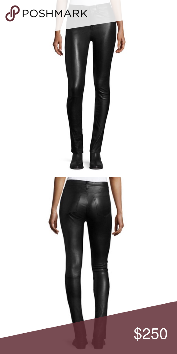 53aca3b9846c Veronica Beard Kate mid-rise leather pants Veronica Beard