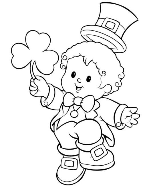 St. Patrick's Day With Young Kids Coloring Pages St
