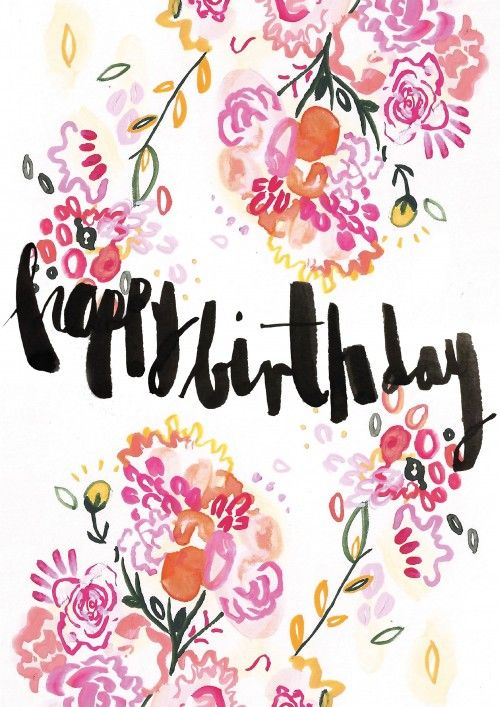 Happy birthday card that you can attach a video to design by bee floral birthday card by bee davies bookmarktalkfo Image collections