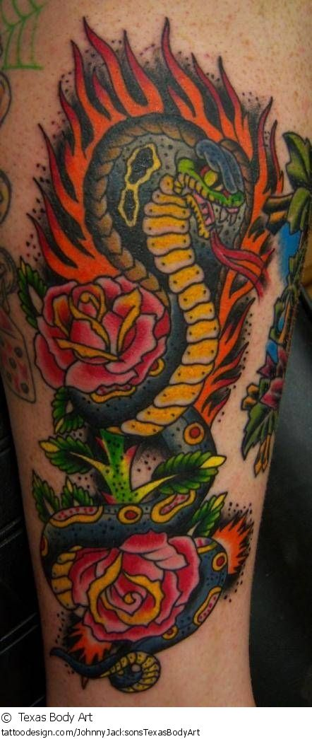 WOW! A Beautiful fire / flame tattoo picture from Texas ...