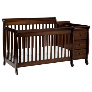 On Davinci Kalani Crib And Changer Combo With Toddler Rail In Espresso