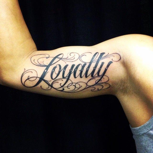 Strength Respect Loyalty Script Tattoo – TattooedNow! Ltd. |Loyalty Font Tattoo