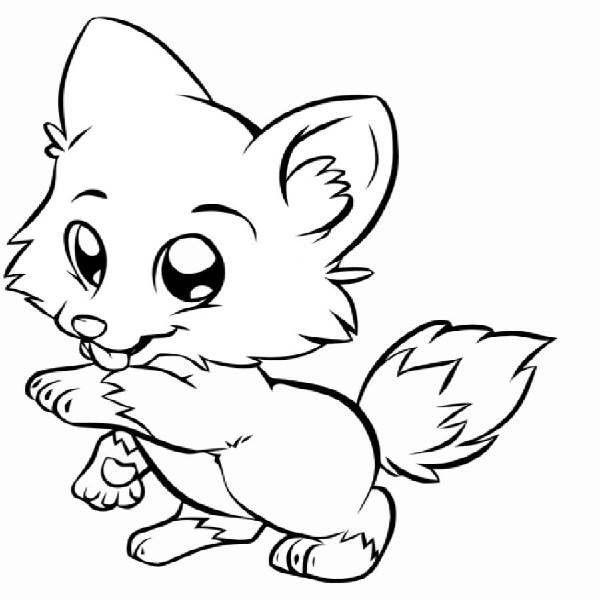 Baby Fox Coloring Pages (Dengan gambar)