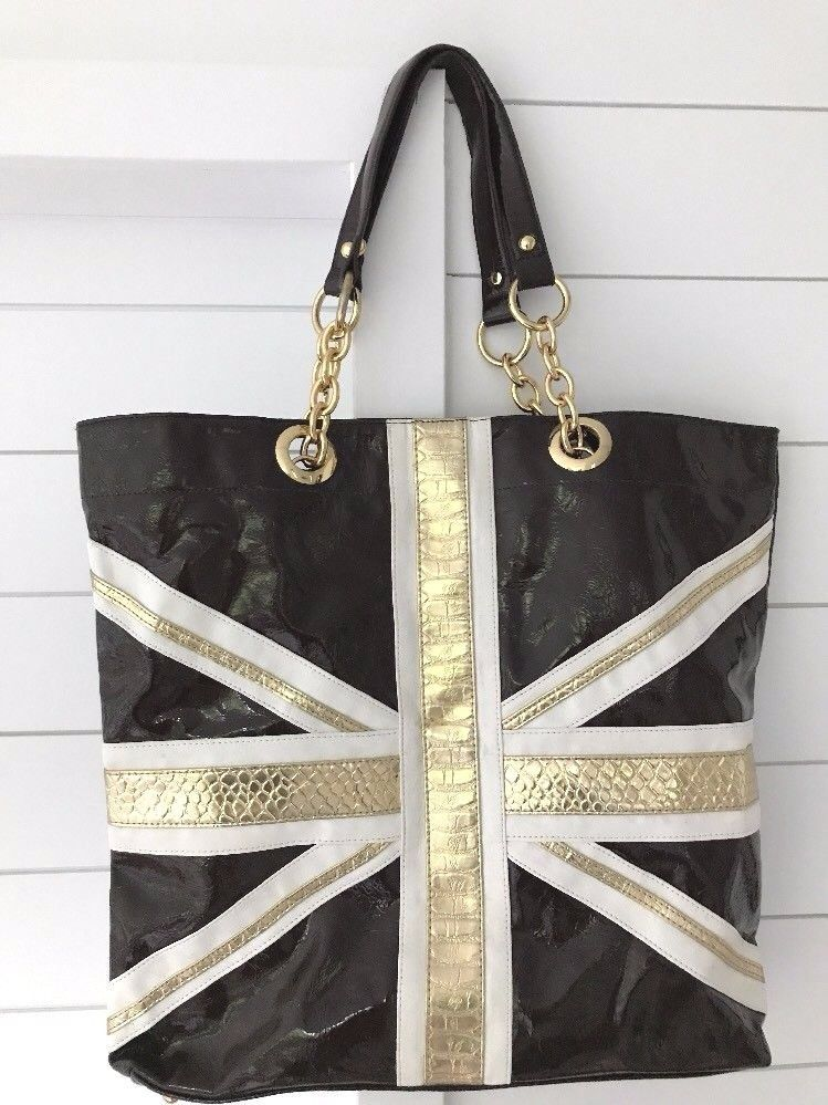 Twiggy London Large Vinyl Tote Purse Bag Twiggy Totesshoppers Tote Purse Tote Bags