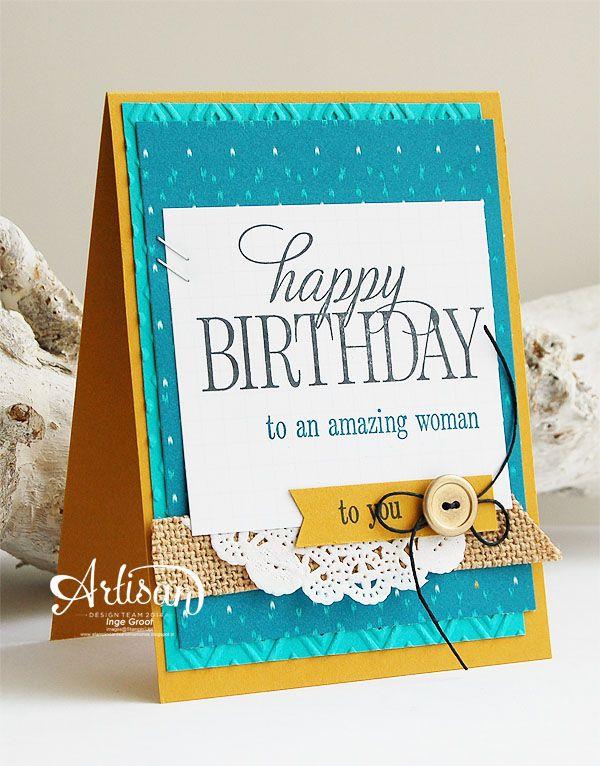 Stampin Up Artisan Bloghop Stampin Up Birthday Cards 40th Birthday Cards Happy Birthday Cards