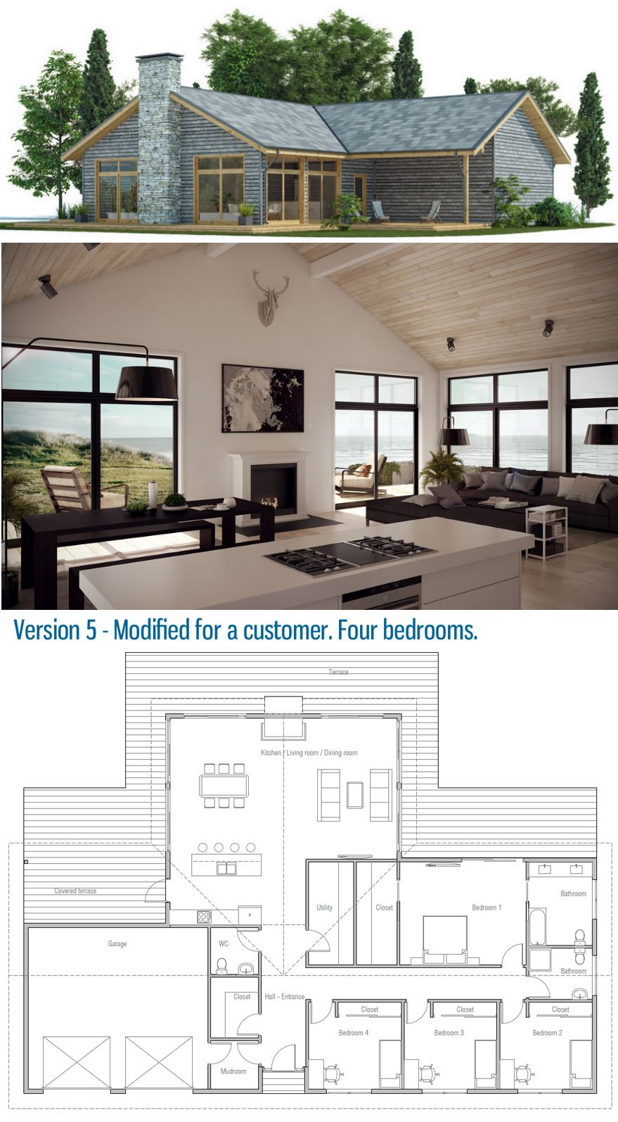 Customer home plan modified house design bungalow plans dream small also best images in diy ideas for rh pinterest