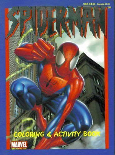 Spider Man Coloring Activity Book By Paradise Press 29 99 Spider Man Coloring Book Activity Book Black And Whi Color Activities Coloring Books Game Art