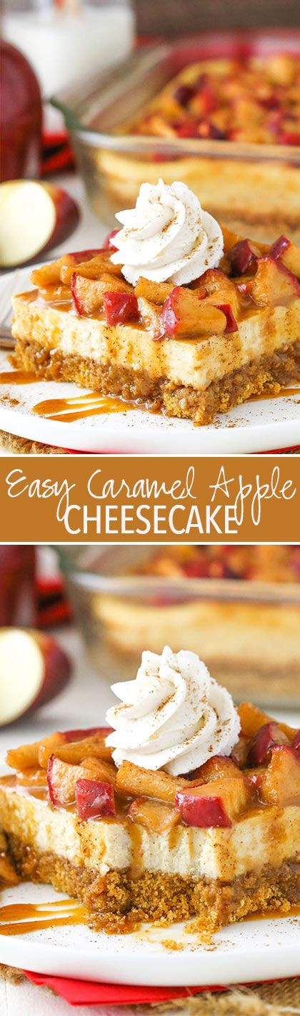 Easy Caramel Apple Cheesecake Recipe - Perfect for Thanksgiving!