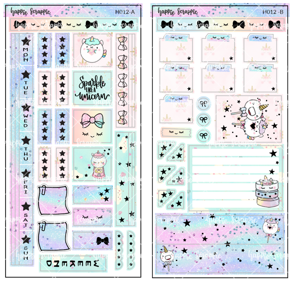Hobonichi Weeks Sticker Kit Magical Wishes H012 Foiled Stickers Sticker Kits Hobonichi Planner Free Planner Stickers